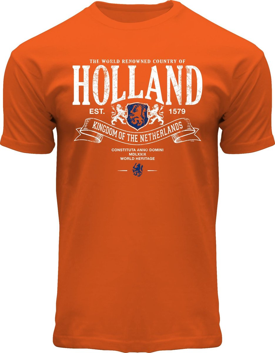 Fox Originals Holland Superior Oranje Heren T-shirt XXL