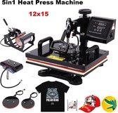 Afbeelding van Warmte Press Heatzy - Heat press machine -  5 in 1 - Mokken , T-Shirts , Petten , Caps , Telefoonhoesjes , Keramische Platen Bedrukken speelgoed