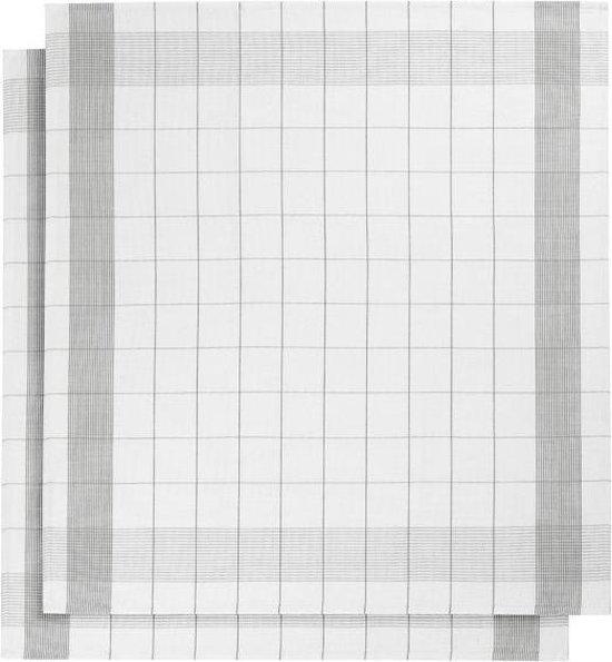 De Witte Lietaer keukenhanddoek - Theedoek - 68x68 cm - Set van 2 grijs