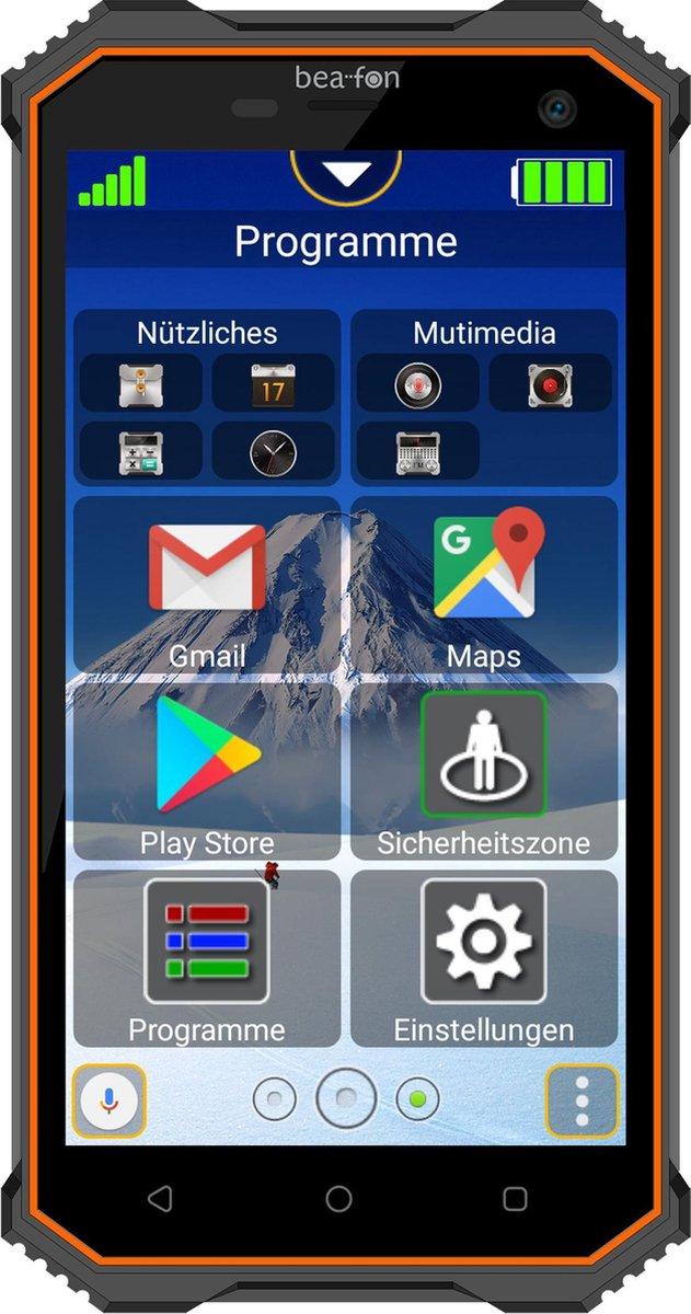 BEA-FON X5 robuuste senioren smart telefoon |Android | Eenvoudig menu | WhatsApp | SOS-knop | Sim Lock vrij