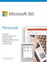 Microsoft 365 Personal - Frans - 1 jaar abonnement
