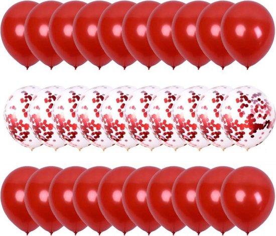 Sens Design Ballonnen – Feest versiering verjaardag – 30 stuks – Rood