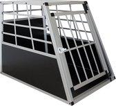 Aluminium hondentransportbox - L