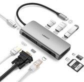 USB-C adapter voor MacBook (Thunderbolt 3) met 4K HDMI & VGA en 7 andere poorten voor elke situatie - 9 in 1 USB-C Adapter Pro