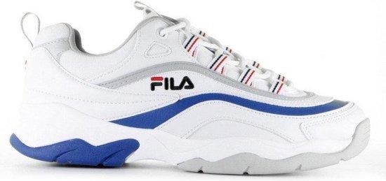 FILA Ray Low Wit/Blauw Heren Sneakers Wit Blauw | Kleur Wit Blauw| Maat 40
