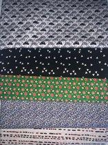 Katoenen stoffen voordeel pakket 5 x 1m (150cm breed)