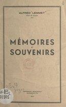 Mémoires et souvenirs