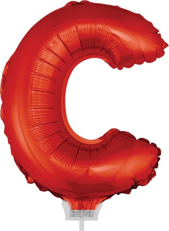 Folie ballon letter C Rood