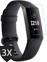 Fitbit Charge 4 Screenprotector - Screenprotector voor Fitbit Charge 4 - Glas PET Folie Screen Protector - 3 Stuks