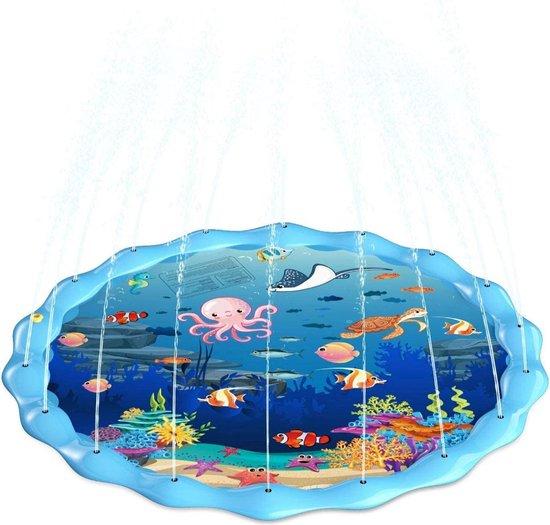 Watermat Water Fontein Waterspeelmat Speelkleed Aquamat Waterstraalkussen Spatmat Kinderen Buiten Spelen Zon Warm