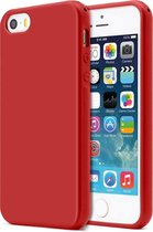 Apple iPhone 5, 5s & SE Hoesje Rood - Siliconen Back Cover