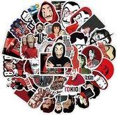La Casa de Papel stickers - Mix met 50 verschillende stickers voor laptop, muur, agenda etc
