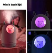 Nachtlampje /slaaptrainer en luchtbevochtiger. Multicolor rustgevend licht nachtlampje. Mood lamp kind/ nachtlamp hondje en rendeer/hert. Wit
