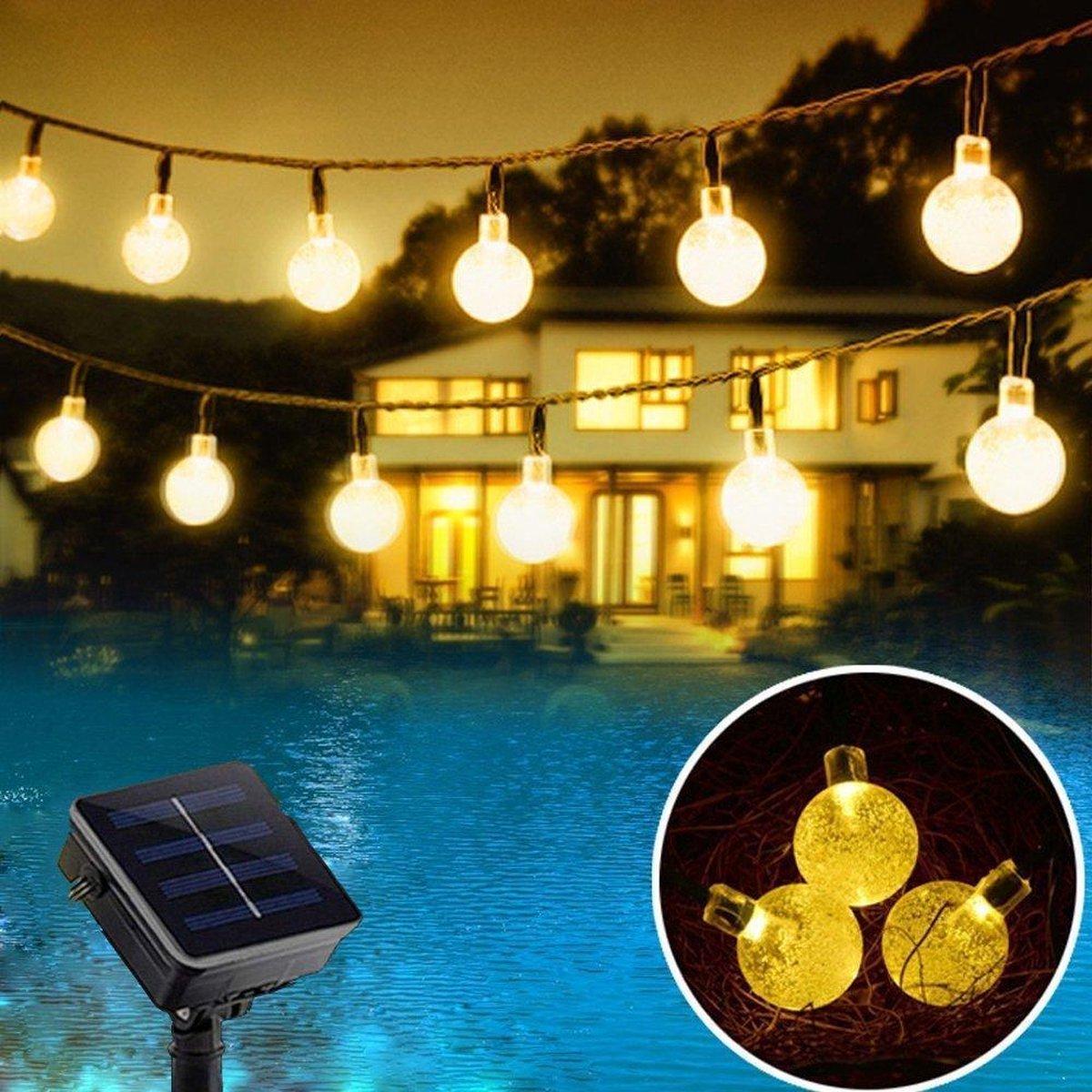 J-Pro Tuinverlichting op zonne-energie - 20 Solar LED 5m Cristal lichtsnoer - ø2,5cm