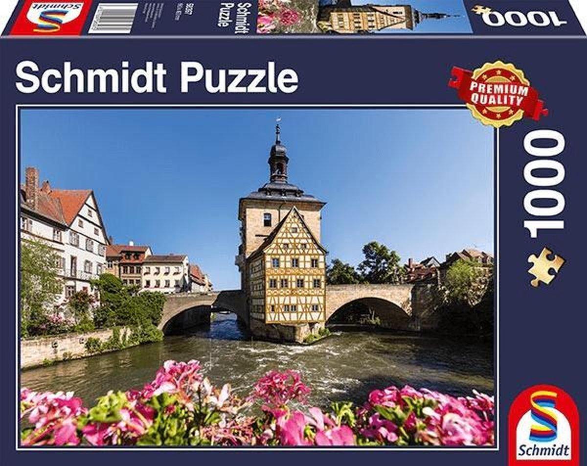Bamberg, Regnitz en het oude stadshuis, 1000 stukjes Puzzel