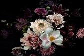 120 x 80 cm - Glasschilderij - Bloemen - schilderij fotokunst - foto print op glas