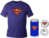 SUPERMAN - T-Shirt - Blue Logo - DELUXE EDITION (XL)