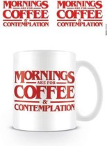 Stranger Things Coffee and Contemplation mok