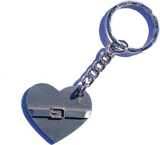 Sleutelhanger '' Hart onder de riem'' - Tin - gift - aandenken - steun