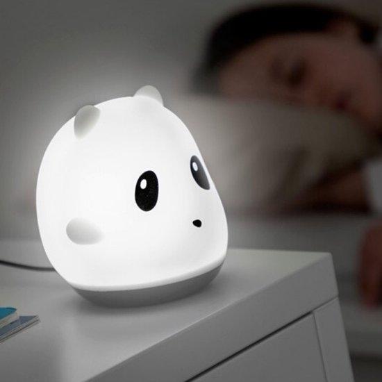 Panda Touch Nachtlamp - Multi Kleur - Wit licht - Oplaadbaar