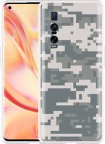 Oppo Find X2 Pro Hoesje Army Digi Camouflage