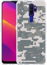 Oppo A9 2020 Hoesje Army Digi Camouflage