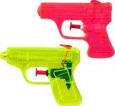 2X waterpistolen Boland rood/geel 7,5x10 cm   - strand - zee - speelgoed - kinderen - spelen -  strandspeelgoed - waterpistool - waterpistolen - zandbak speelgoed - zwembad - kinderzwembad -