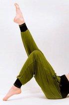 Yogabroek Vinayasa Olijfgroen-Zwart M-L