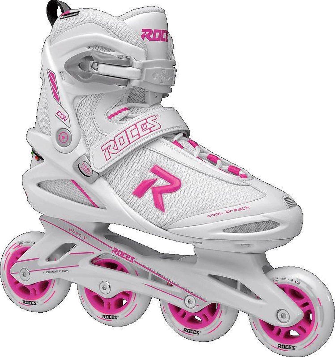 Roces Icon Women's inline skates - maat 36 - 80mm white / magenta