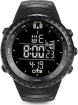 Digitaal Horloge Outdoor en Sport Heren Mannen Sportief Racing Lifestyle Zwart met zwart scherm