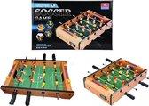 Mini voetbaltafel met balletjes - Gemaakt van hout - 34 cm groot