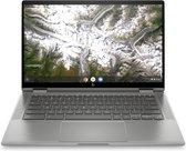 "HP Chromebook x360 14c-ca0002nd Zilver 35,6 cm (14"") 1920 x 1080 Pixels Touchscreen Intel® 10de generatie Core™ i3 8 GB DDR4-SDRAM 64 GB eMMC Wi-Fi 6 (802.11ax) Chrome OS"
