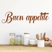 Muursticker Buon Appetito -  Bruin -  80 x 20 cm  - Muursticker4Sale