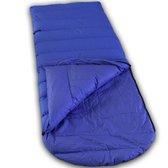 LOWLAND OUTDOOR® Donzen slaapzak - Ranger Comfort NC - 230 cm - 1495 gr - 0°C - Nylon/Katoen - Cobalt blauw