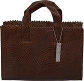 MYOMY My Paper Bag Dames Schoudertas - Anaconda Brandy