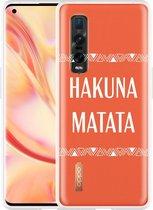 Oppo Find X2 Pro Hoesje Hakuna Matata white