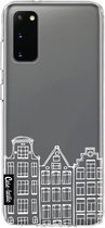 Samsung Galaxy S20 hoesje Amsterdam Canal Houses White Casetastic Smartphone Hoesje softcover case