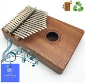 Kalimba Set ATV PERFECTUM Brown - Duimpiano - 17 tonen - Mahonie - Afrikaans Sapele - Afrikaans Muziekinstrument - kalimba 17 tonen – Muziekinstrument – Kalimba 17