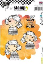 Carabelle cling stamp A6 little girlCarabelle cling stamp A6 little girl