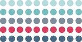 Gekleurde Ronde Stickers / Stickervellen / Bullet Journal Stickers   8mm   250x   MAUI
