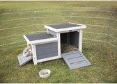 Trixie knaagdierhuis met 2 ingangen grijs / wit 70x45x43 cm