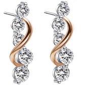 Yolora sieraden - Oorbellen set met Crystals from Kalpa Camaka ® - zilver kleurig- dames - YO-027