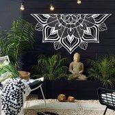"Lotus Flower ""SUTRA White"" |Mandala Wall Art  - 160cmx81cm|Hoagard| Muurdecoratie | Woondecoratie |Origineel Cadeau | Bohemian Style Interior Design | Spiritual Gift Idea"