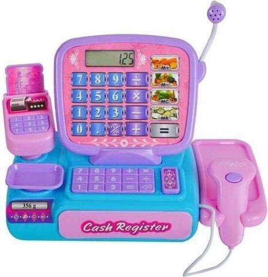 Elektronische Speelgoed Kassa met geld scanner en een microfoon