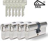 Pfaffenhain SKG3 - cilindersloten - 4 stuks gelijksluitend - 30/30