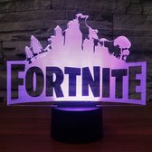 Fortnite 3D Lamp met afstandsbediening - Tafellamp - Lamp kinderkamer - Nachtlamp - Led