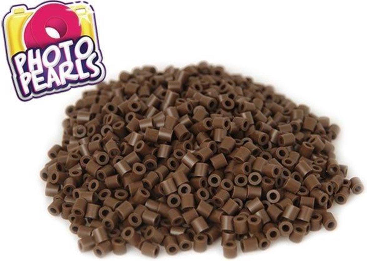 Bruin(no.3) - Strijkkralen - Kraaltjes - Photo Pearls - Knutselen - Kinderkraaltjes - Strijken - Kralen - Goliath - 1100 stuks