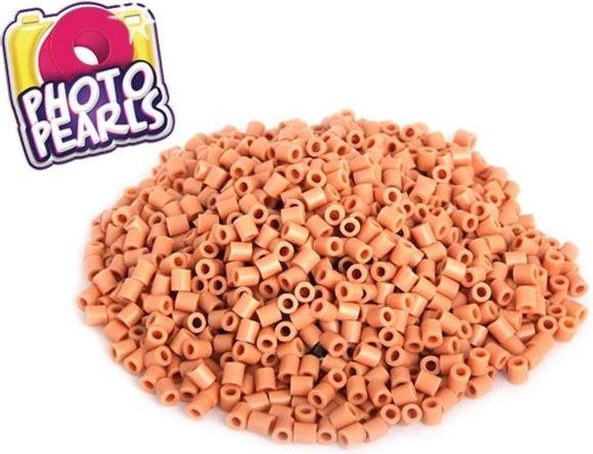 beigeig / abrikoos (no.20) - Strijkkralen - Kraaltjes - Photo Pearls - Knutselen - Kinderkraaltjes - Strijken - Kralen - Goliath - 1100 stuks