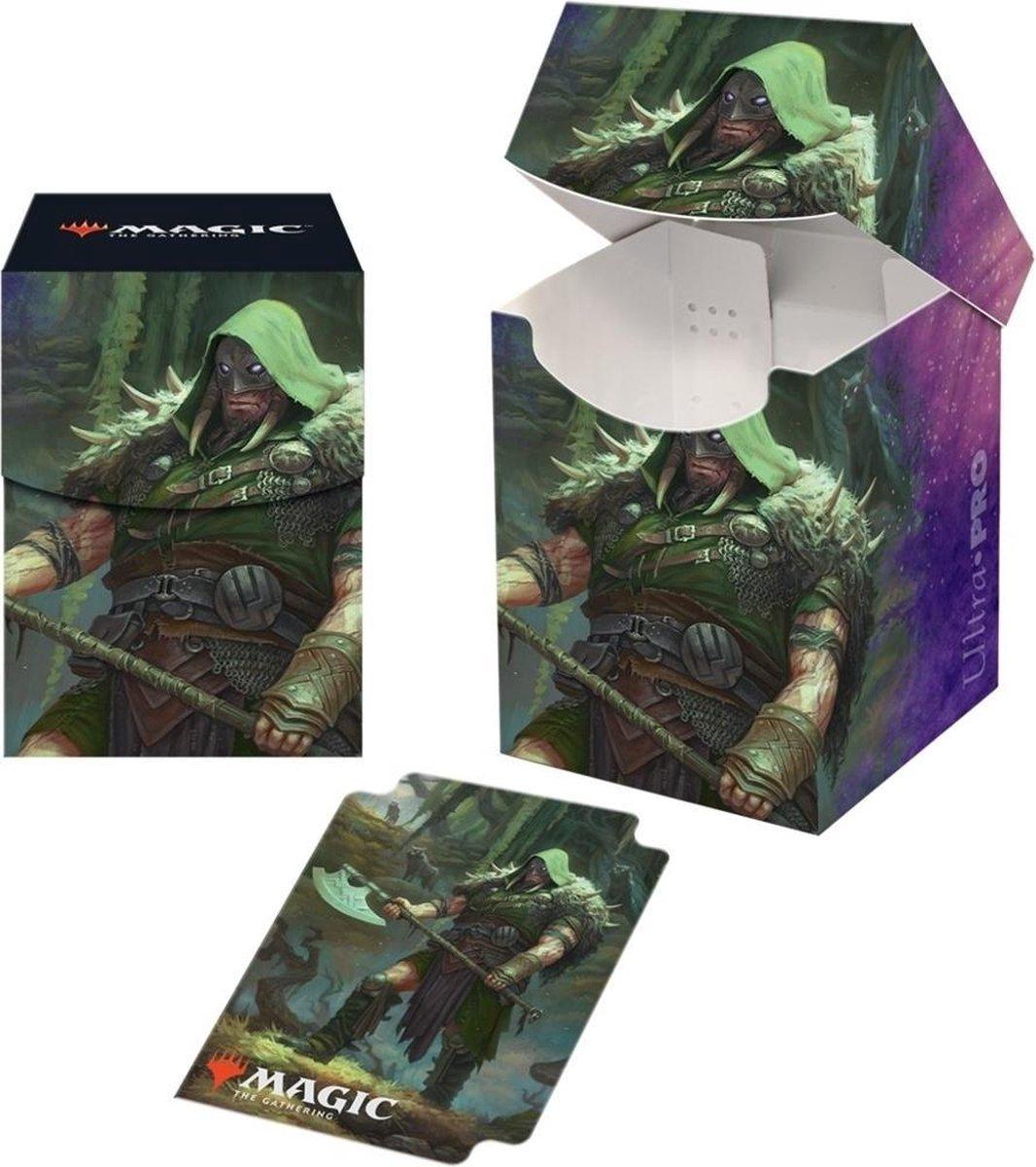 MTG: Throne of Eldraine Garruk Cursed Huntsman PRO 100+ Deckbox