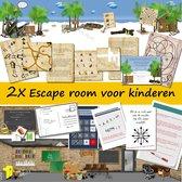 2x Escape room voor kinderen – Ontsnap uit de kelder – Ontsnap van het eiland – 8 t/m 12 jaar – 1 tot 4 kinderen –  Compleet draaiboek – print zelf uit!